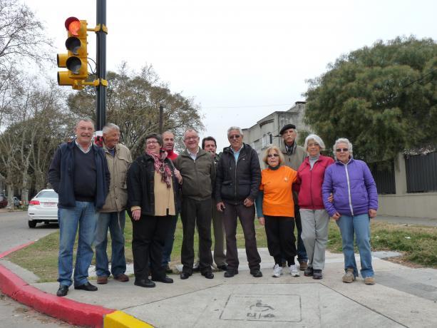 Inauguración de semáforos en Suárez y Grito de Asencio