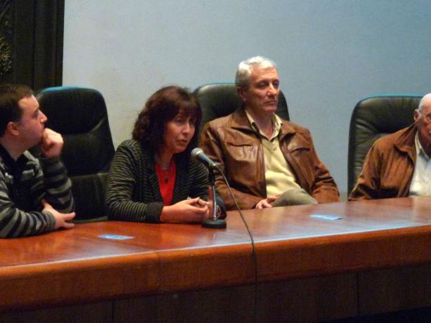 Adrián Caldeiro, Mariella Mazzotti, Willan Masdeu y Luis Amorín