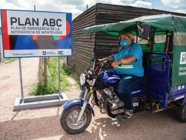 Intendenta recorre obras por plan ABC. Foto: IM.