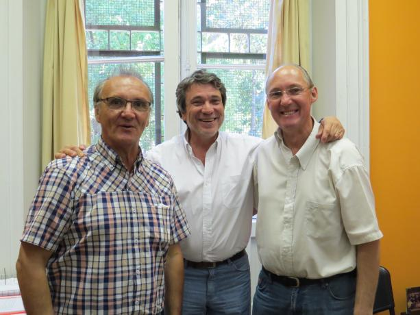 Richard Read, Gastón Silva y Juan Tons