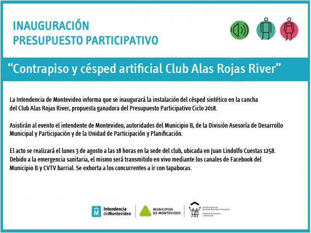 Inauguración cancha Club Alas Rojas River