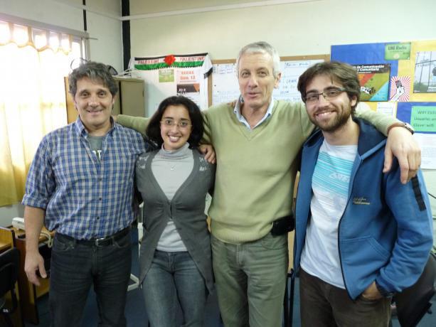 Willan Masdeu y el equipo de Bien de Cerca