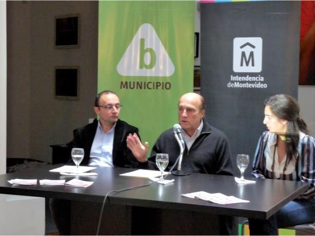 Alcalde del Municipio B Carlos Varela, Intendente de Montevideo Ing. Daniel Martínez y Macarena Montañez