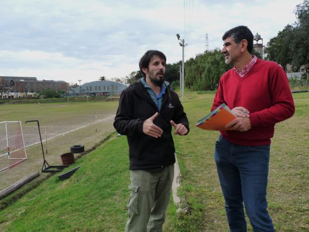 Rodrigo Arcamone, alcalce del Municipio C, con Miguel Pereira, coord. de la Unidad de Participación de la IM.