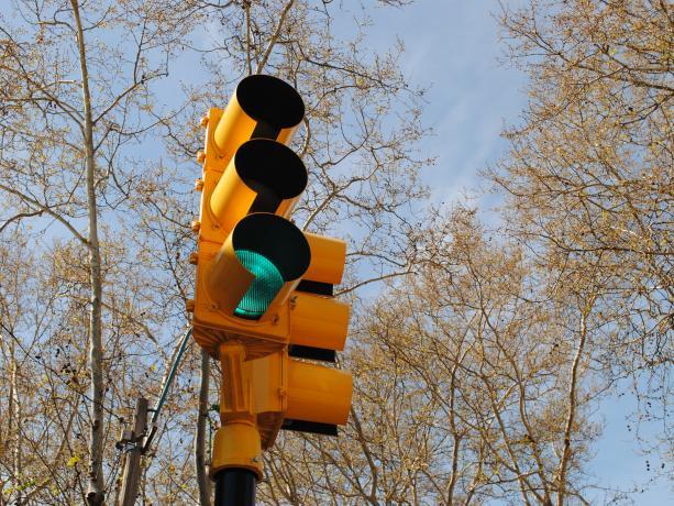 Semáforos en Av. Rivera y Llambí