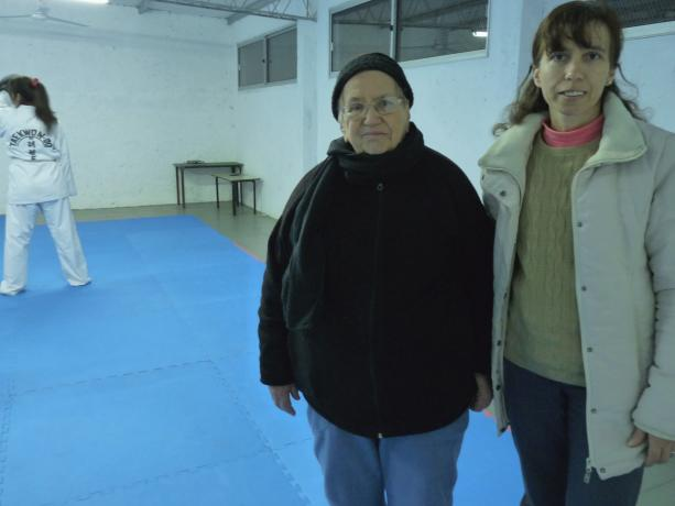 Nilda Franco y Andrea Perdomo