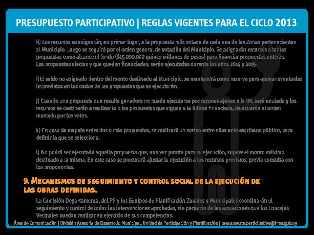 Reglas PP 2013