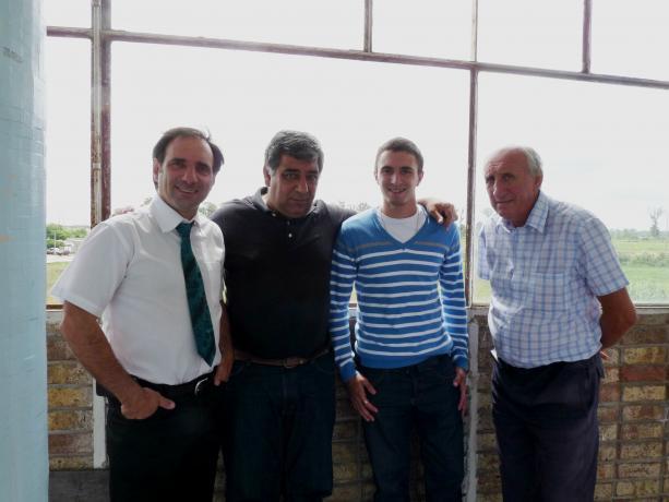 Eduardo Grachot, Mario Bassi, Nicolás Stepaniuk y Miguel Panosioan