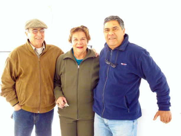 Alejandro Nario, Cristina Branda y Carlos Marmol