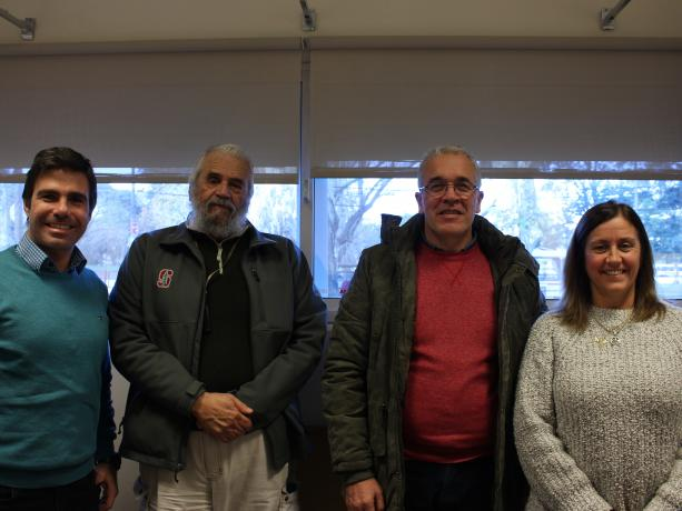 Mauricio Delacasa, Fernando Britos, Javier Cartategui y Gabriela Campo.
