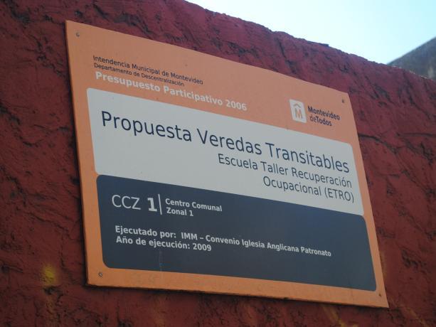 Veredas transitables en el CCZ 1