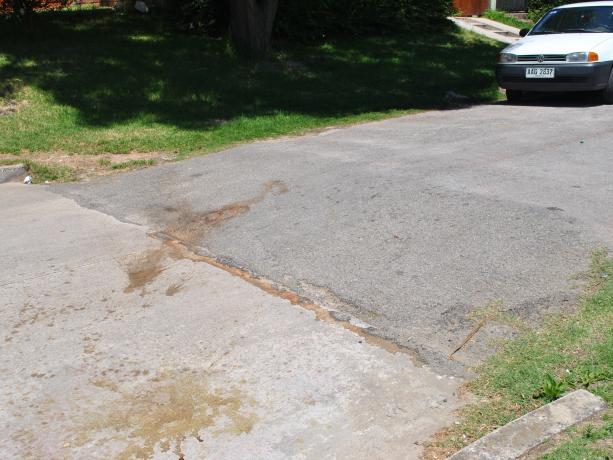 Rebaje de pavimento