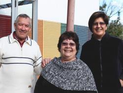Roberto García, Tania Ocampo y Daniela Real