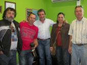 Daniel Suárez, Santiago Serra, Gastón Silva, Mariana Rodríguez y Dante Buso