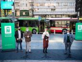 Presentación de nuevos vehículos de transporte colectivo híbridos. Foto: IM.