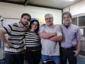 El equipo de Bien de Cerca con el Director de UNIRadio, Oscar Orcajo