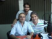 Becario de Comunicación Diego Casco, Lic. Eduardo Curuchet y Alcalde del Municipio B, Carlos Varela