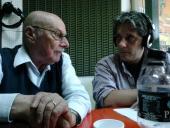 Luís Amorín, Presidente del Concejo Vecinal de la Zona 13, y Lic. Eduardo Curuchet