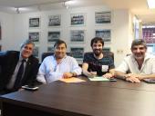Héctor J. Rañales, Alejandro Mazzeo, Rodrigo Arcamone y Miguel Pereira