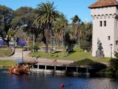 Limpieza del lago del Parque Rodó. Foto: IM.