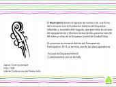 Invitación a firma de convenio entre IM y Fundación Sistema de Orquestas Infantiles y Juveniles