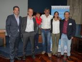 Diego Barbosa, Enrique Muguerza Júdez, Irma Rodas, Miguel Pereira, Emiliana Hidalgo y Carlos Simoes.