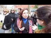 Entrevista a la Intendenta Ana Olivera en la Inauguración del callejón Cornelio Cantera