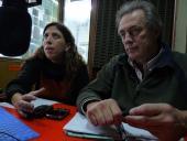 Natalia Michelena y Gerardo Monteverde, integrantes del Equipo Técnico de Clasificadores y Clasificadoras de residuos secos, Departamento de Desarrollo Social de la IM.