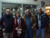 Fabrizio Rosiello, Laura Albarracín, César Raimondo y Héctor Assir.