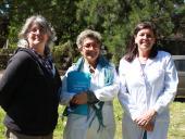 Ana Campoleoni, Marinela Díaz y Mariella Benedetti.