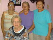 Nilda Franco, Teresa Garro, Nilba Méndez y Delia Peralta