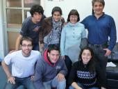 """El equipo de Bien de Cerca con representantes de """"Fútbol Calle"""""""
